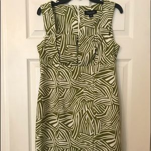 Perceptions Green & white dress and matching cami